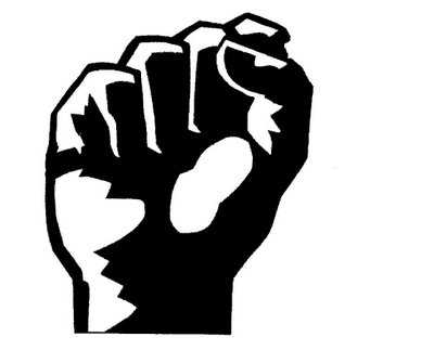 Fist black and white